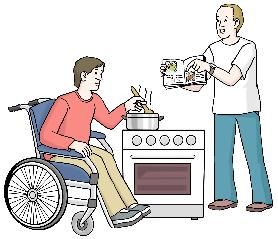 zwei Menschen kochen