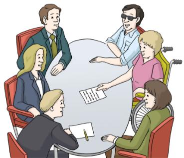 Tisch mit Personen